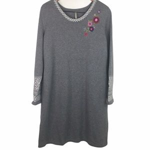 Hanna Andersson Embroidered Sweater Dress SzXL